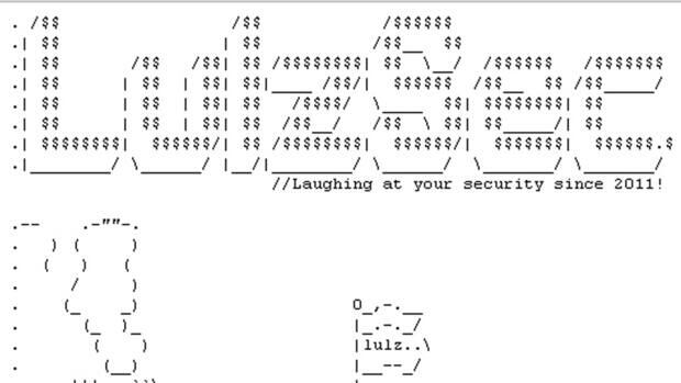 A screen grab of the website of the Lulz Security hacking group taken June 14, 2011, soon after the group took credit for hacking into the website of the U.S. Senate and releasing some internal data its members found there. Two alleged members of the group have been charged in connection with the hacking of the computer systems of Sony Pictures Entertainment.