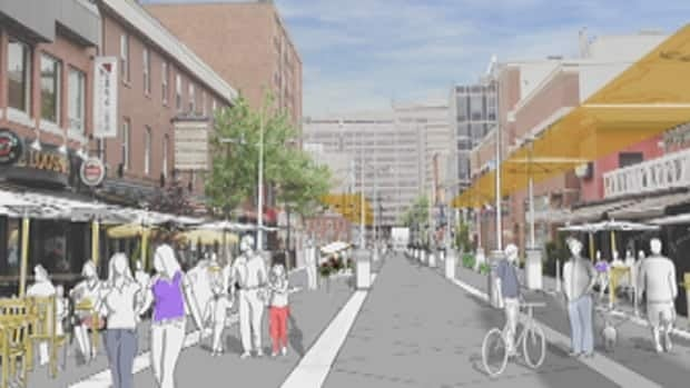 The proposed plan for Argyle Street calls for space for activities such as live theatre.