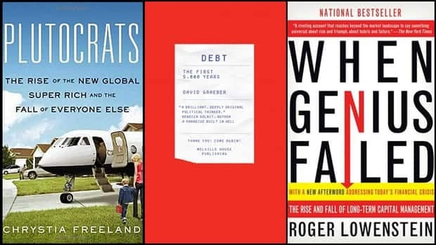 Canadian financial gurus read a range of books and blogs in 2012, covering subjects as varied as the failure of corporate giants and the rise of consumer debt. They give us their recommendations for those they found essential to understanding the current economic times as well as our own finances.