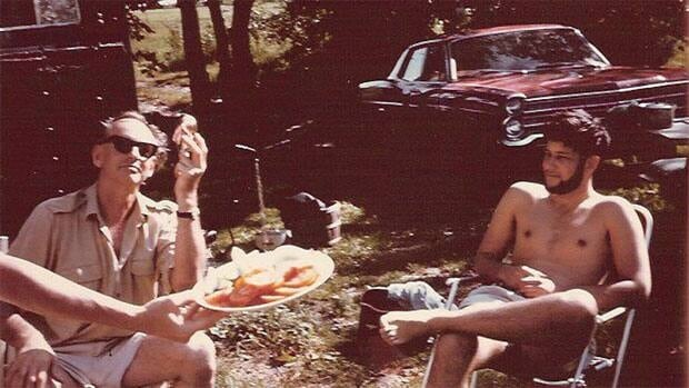 Purdy, left, was a frequent host to other poets and writers at the home, including Michael Ondaatje.