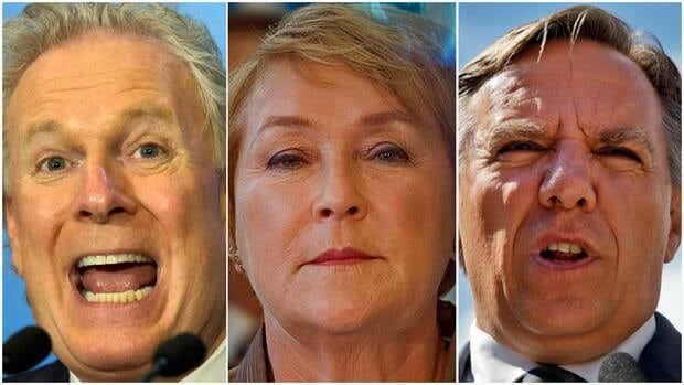 Jean Charest of the Liberals, left, Pauline Marois of the Parti Québécois and François Legault of the Coalition Avenir Quebec have competing visions for the province that could echo across Canada after the Sept. 4 election.