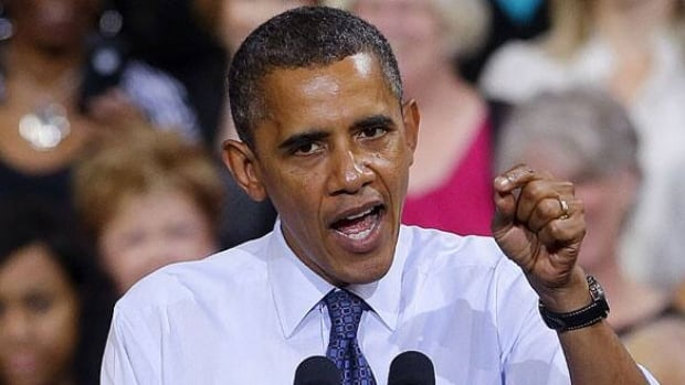 President Barack Obama was greeting supporters during a campaign event at George Mason University in Virginia when the U.S. jobless rates were released. Obama said the jobs news was encouraging.