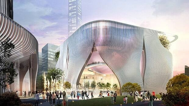 Bing Thom and Ronald Lu's design for the Xiqu Centre in Hong Kong is inspired by a Chinese lantern.
