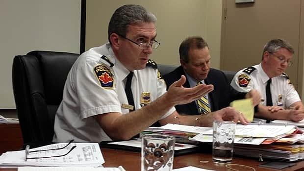 Chief Glenn De Caire from Hamilton Police Service explains the new proposed budget, which is an increase of 4.75 per cent over last year. That proposal has Coun. Terry Whitehead at odds with Mayor Bob Bratina.