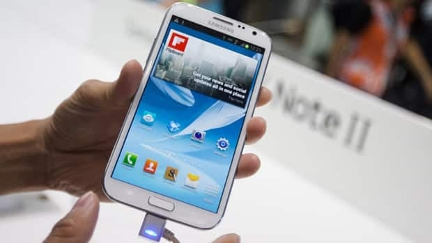 The number of Canadians who own Android smartphones, such as Samsung's Galaxy Note II shown here, has surged since Jan. 2011.