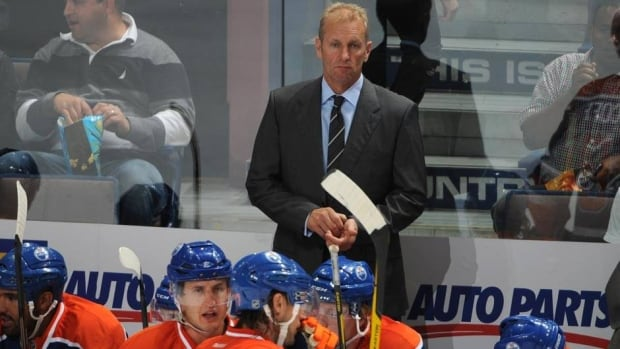 Ralph Krueger, seen behind the bench for Edmonton last season, has adjusted to the NHL game after several years in Europe.
