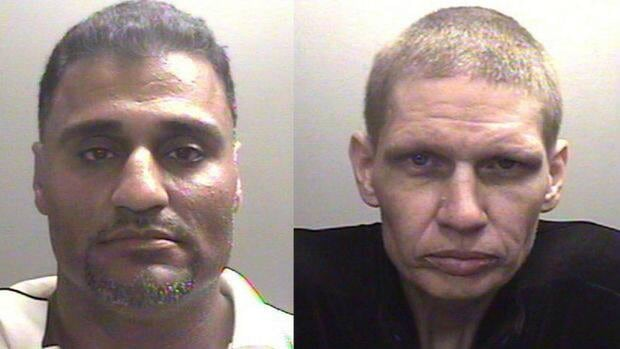 Police say Gurdev 'Dave' Hair and Steve Douglas Godard are wanted for kidnapping.