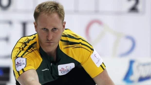 Brad Jacobs, seen here making a shot for Team Northern Ontario at the 2012 Tim Hortons Brier in Saskatoon, Sask., is unbeaten at the Rogers Masters Grand Slam of Curling in Brantford, Ont.