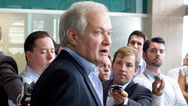 Donald Fehr, executive director of the NHLPA, speaks to journalists following collective bargaining talks in Toronto on Wednesday. Negotiations continue between the NHL and the NHLPA to avoid a potential lockout.