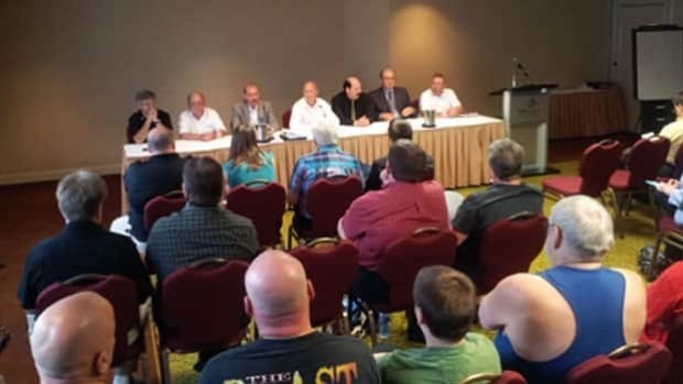 Unionized Codiac Transpo workers met this morning at a news conference.