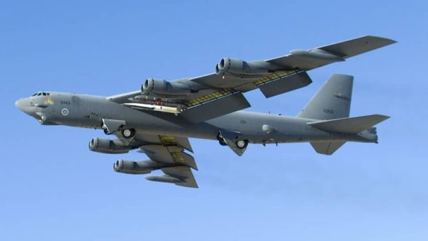 In this image provided by the U.S. Air Foce an X-51A WaveRider rides under the wing of a B-52 Stratofortress Dec. 9, 2008.