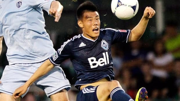 The Vancouver Whitecaps have parted ways with striker Long Tan, shown in this file photo.