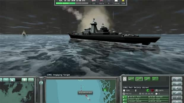 The computer game, called Naval War: Arctic Circle, features real ships such as the Canadian HMCS Halifax in its game about Arctic warfare.