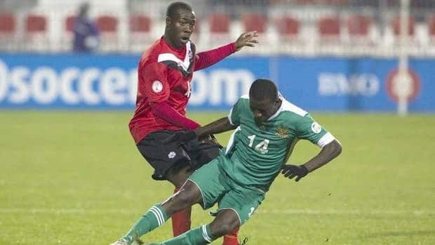 Canada's Nana Attakora, left, will return to the Canadian men's soccer team roster as they compete for a spot at the 2012 London Olympic Games.
