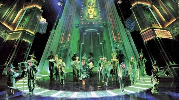 A scene from the Emerald City with the original cast at the London Palladium.