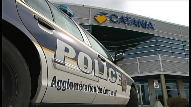 The Brossard offices of F. Catania Construction were among several locations raided by Quebec's anti-corruption squad.