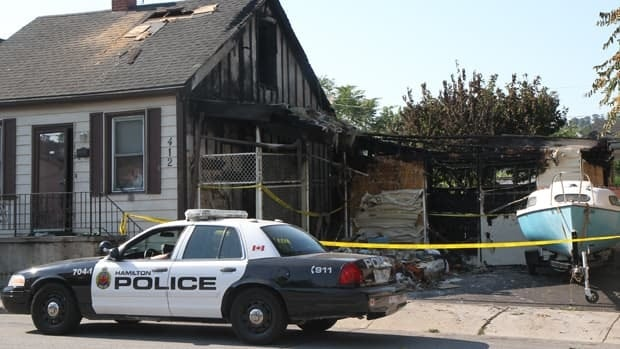 Police are investigating a fire at a grow-op on Wilson Street.