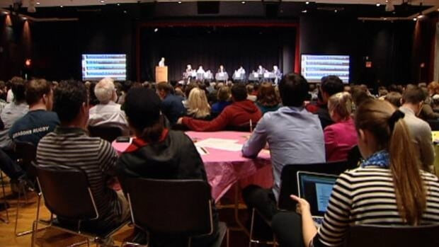 Transparency was the focus of a mayoral debate at Dalhousie University on Tuesday night.