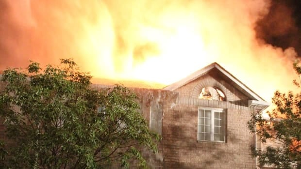The fire did heavy damage to homes on Spadina Road in Brampton.