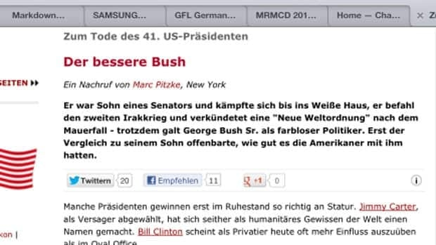 German magazine Der Spiegel accidentally published an obituary of former U.S. president George H.W. Bush online.