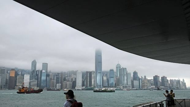 As growth slows in major Chinese economic centres such as Hong Kong, above, China is moving to promote development of seven emerging industries.