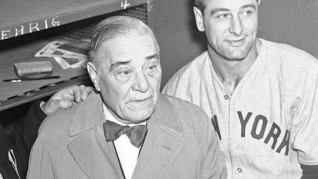 Former Yankees owner Colonel Jacob Ruppert, left, has been elected to baseball's Hall of Fame by the pre-integration era committee.