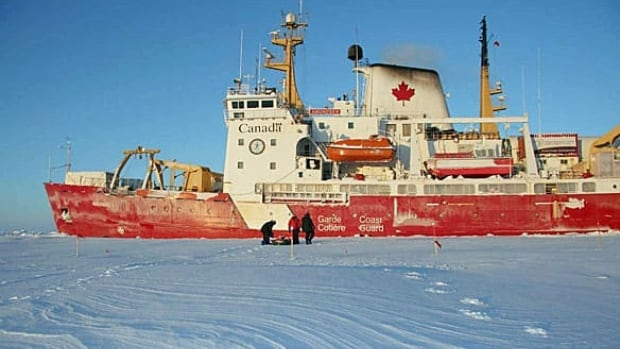 A Canadian polar scientist who conducted research aboard the Canadian Coast Guard ship Amundsen is shown here in 2008.