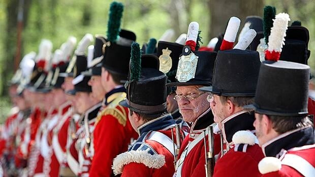 The Battle of Longwoods is fought by re-enactors of the British, American and native fighters from the War of 1812 battle, west of London, Ont., last month. The Battle of Longwoods occured March 4, 1814, as British troops failed to expel American invaders.