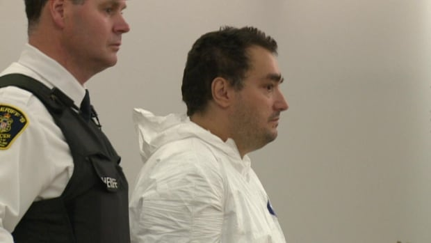 A St. John's man makes his first court appearance in provincial court in St. John's on charges of armed robbery.