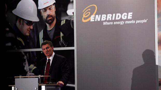 Enbridge CEO Al Monaco addresses the company's annual meeting in Calgary on Wednesday, May 8, 2013.