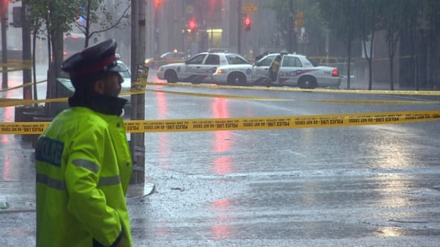 Police say Rameez Khalid was stabbed at around 2 a.m. on Sunday on Richmond Street near York Street, in front of the Four Seasons Centre for the Performing Arts.