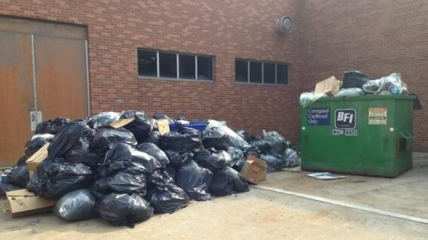 Not all the garbage at the University of Windsor is being collected during the strike by CUPE Local 1393.