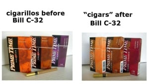 Change in packaging of flavoured tobacco products