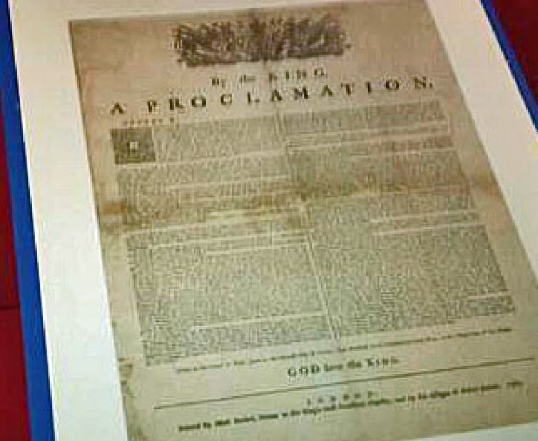 what is a royal proclamation