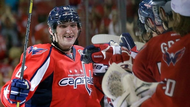 Capitals right-winger Alex Ovechkin, who was named the NHL's first star for opening week, led all NHL players in goals (four), points (six), power-play goals (three) and shots on goal (24).