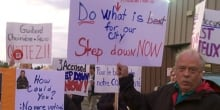 Clarence-Rockland city council meeting protest