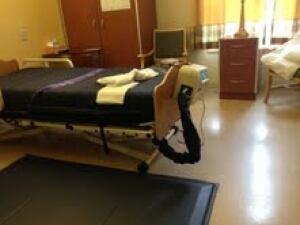 Long term care bed mat