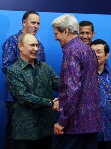 Putin and Kerry APEC