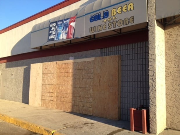 Prince Albert beer store crash