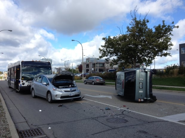 Collision at water and charles