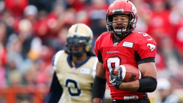 Jon Cornish gashed Winnipeg for 208 rushing yards and a pair of touchdowns in a 38-11 Calgary win last week.