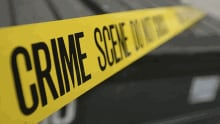 Crime scene yellow police tape