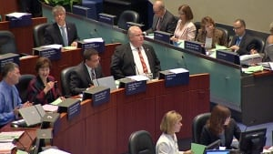 Toronto Mayor Rob Ford at council