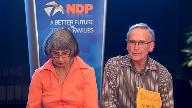 Supporters wait for Premier Darrell Dexter at his election night event in Halifax on Tuesday. Voters in Nova Scotia dumped the NDP.