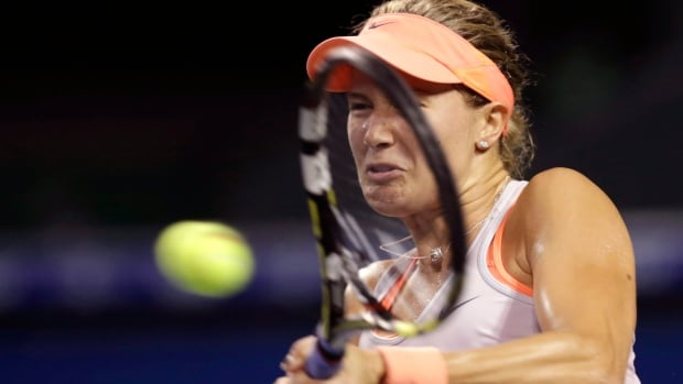 Eugenie Bouchard, shown here competing at the recent Pan Pacific Open, is through to the third round of the Japan Open.