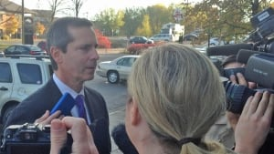 Dalton McGuinty arrives at Elliot Lake Inquiry