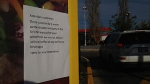 McDonald's notice after boil water advisory