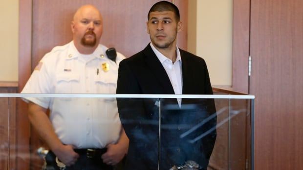 Former NFL player Aaron Hernandez was back in a Massachusetts court on Wednesday for a pretrial hearing, his first time in court since being arraigned.