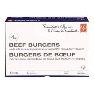 LOBLAW COMPANIES LIMITED - Product Recall: PC Burgers