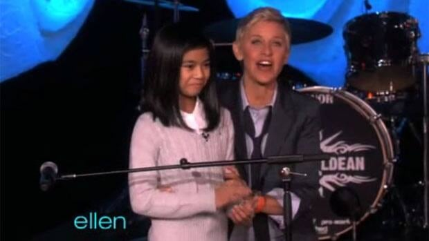Maria Aragon appears on the Ellen DeGeneres Show, which aired Feb. 22.
